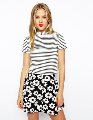 Asos Top with Open Back in Stripe