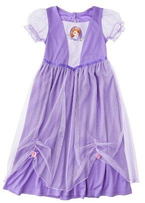 Disney Sofia the First Toddler Girls' Short-Sleeve Nightgown