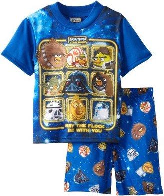 AME Sleepwear AME Boy's Force Flock Star Wars and Angry Birds Two-Piece Sleepwear Set
