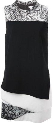 Helmut Lang layered multi print dress