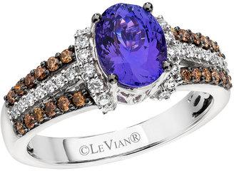 LeVian LE VIAN 14Kt. White Gold Tanzanite and Diamond Ring