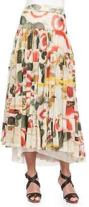 Jean Paul Gaultier Printed Garden Tiered Skirt