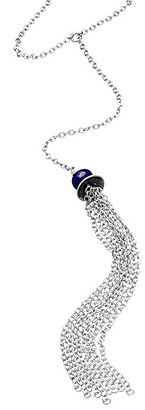 Nashelle Silver And Lapis Signature Necklace