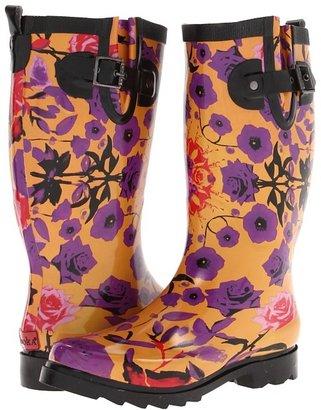 Chooka Kaleidoscope Garden Rain Boot (Orange) - Footwear