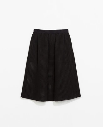 Zara Flared Studio Skirt