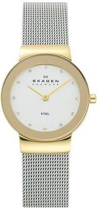 Women's Skagen 'Freja' Mirror Bezel Mesh Strap Watch, 26Mm $115 thestylecure.com
