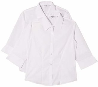 "Trutex 2 pk Girl's 3/4 Sleeve Fitted Blouse,(Manufacturer Size: 42"" Chest)"