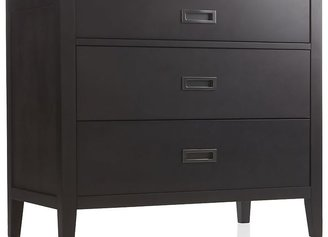 Crate & Barrel Arch Charcoal 3-Drawer Chest