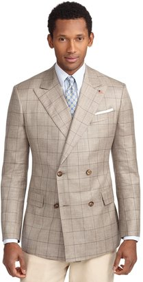 Brooks Brothers Regent Fit Double-Breasted Windowpane Sport Coat