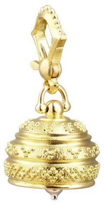 Paul Morelli 18k Granulated Meditation Bell Pendant, 14mm