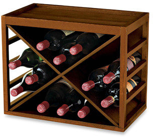 Bed Bath & Beyond 12-Bottle X-Cube Wood Wine Rack