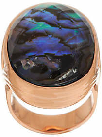 Honora Abalone Bold DoubletBronze Ring