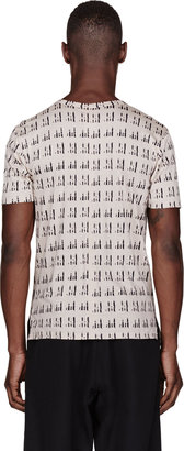 Damir Doma Beige & Black Tenax Print T-Shirt