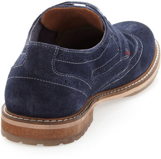 Ben Sherman Suede Trend-Lace Oxford, Blue