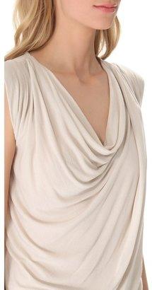 Donna Karan Sleeveless Draped Top