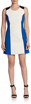 Romeo & Juliet Couture Mixed-Media Colorblock A-Line Dress
