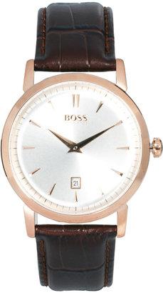 HUGO BOSS Brown Leather Watch