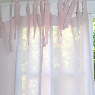Pom Pom at Home Curtain Panel Tie Top Linen Voile