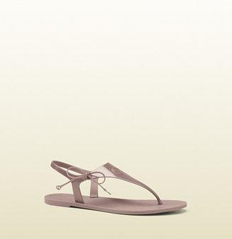 Gucci Katina Light Pink Rubber Thong Sandal