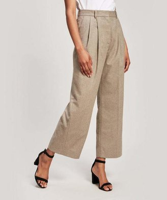 Wood Wood Sunna Pleated Recycled Wool-Blend Trousers