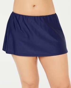 Island Escape Swimwear Plus Size Swim Skirt, Created for Macy's Women's Swimsuit