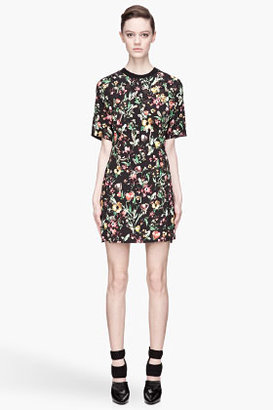 3.1 Phillip Lim Black Faded Botanical Embroidered layered-skirt Dress