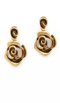 Oscar de la Renta Flower Earrings