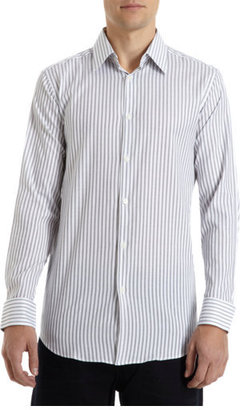 Theory Striped Button Front Shirt