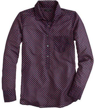 J.Crew Cotton-silk voile dot popover