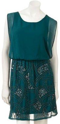 Lauren Conrad embellished chiffon dress