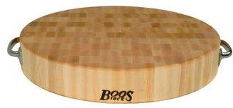 John Boos & Co.® End-Grain Round Maple Chopping Block