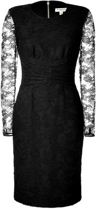 Burberry Lace Sleeve Sheath
