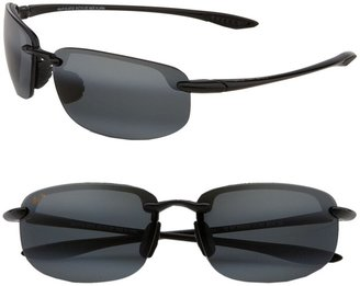 Maui Jim Ho'okipa PolarizedPlus(R)2 63mm Rectangle Sunglasses