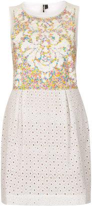 Topshop Sequin and Crochet Dress