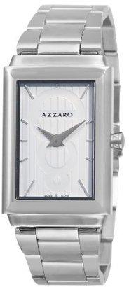 Azzaro Men's AZ2061.12AM.000 Legand Rectangular White Dial Bracelet Watch