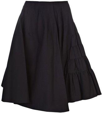 Alaia Vault rayaure skirt