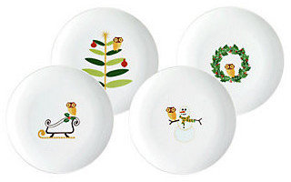 Rachael Ray Holiday Hoot Dinnerware Collection