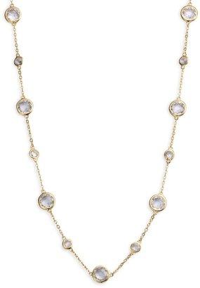 Adriana Orsini Stationed Bezel-Set Necklace