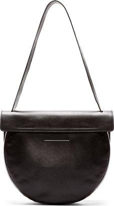 Maison Martin Margiela Black Leather Geometric Satchel