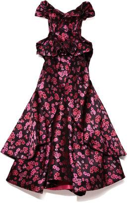 Zac Posen Preorder Floral Jacquard Cascade Gown