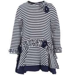 Kate Mack Biscotti Stripe Swing Top and Leggings Set