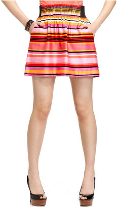 Amy Byer Juniors Skirt, Striped A-Line Mini
