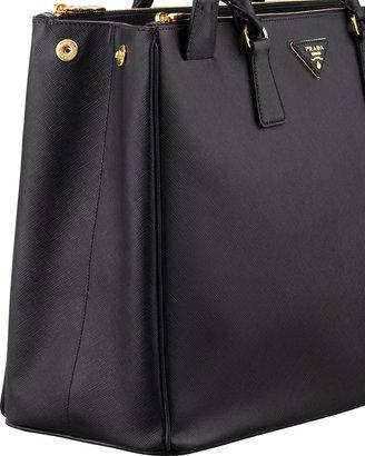 Prada Saffiano Large Executive Tote Bag, Black (Nero)