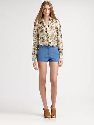 L'Agence Print Silk Shirt