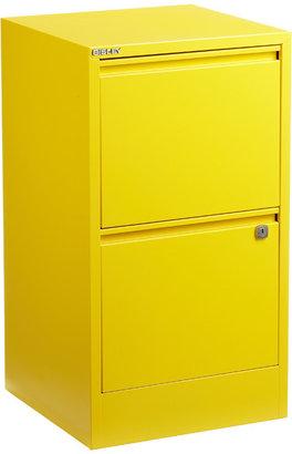 Bisley 2-Drawer File Cabinet Yellow