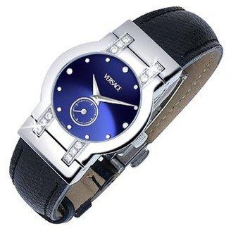 Versace Madison - Ladies' Black Round Dial Diamond Watch