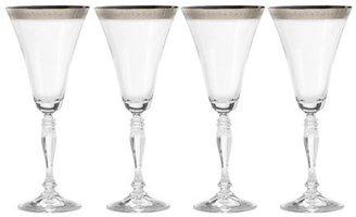 Mikasa Platinum Crown Wine Glasses, Set of 4
