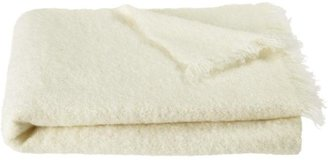 Crate & Barrel Brush White Throw