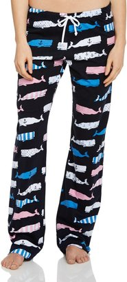 Hatley Women's Nautical Whales Jersey Pant Pyjama Bottoms