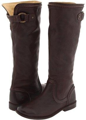 Frye Paige Trapunto (Dark Brown) - Footwear